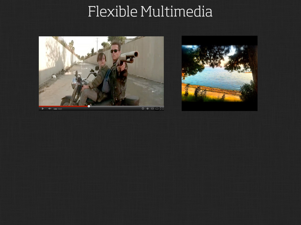 Flexible Multimedia