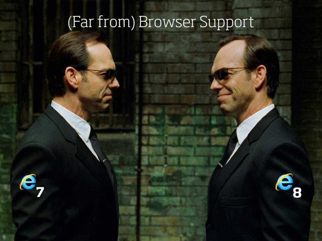 7 8 (Far from) Browser Support