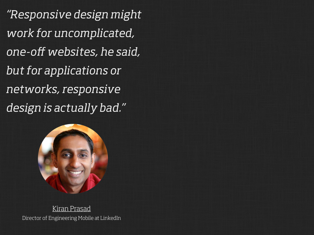 Kiran Prasad Director of Engineering Mobile at ...