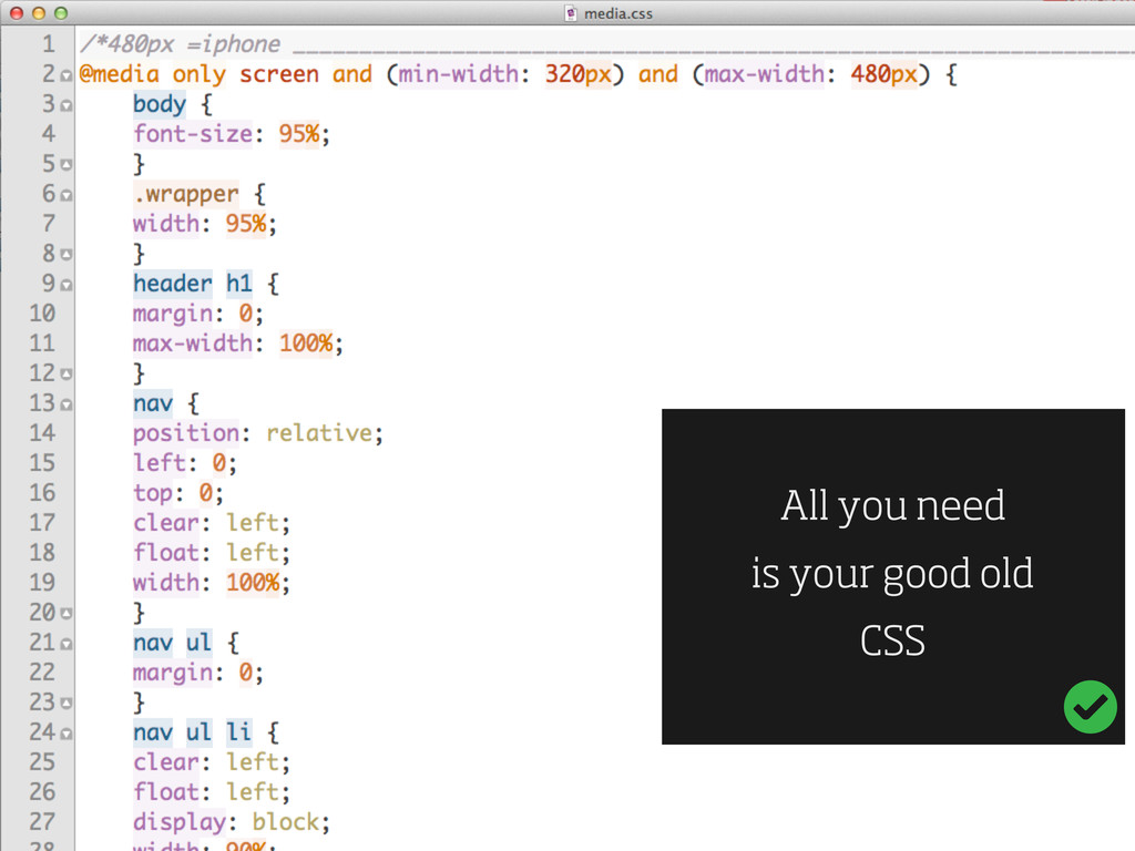 All you need is your good old CSS