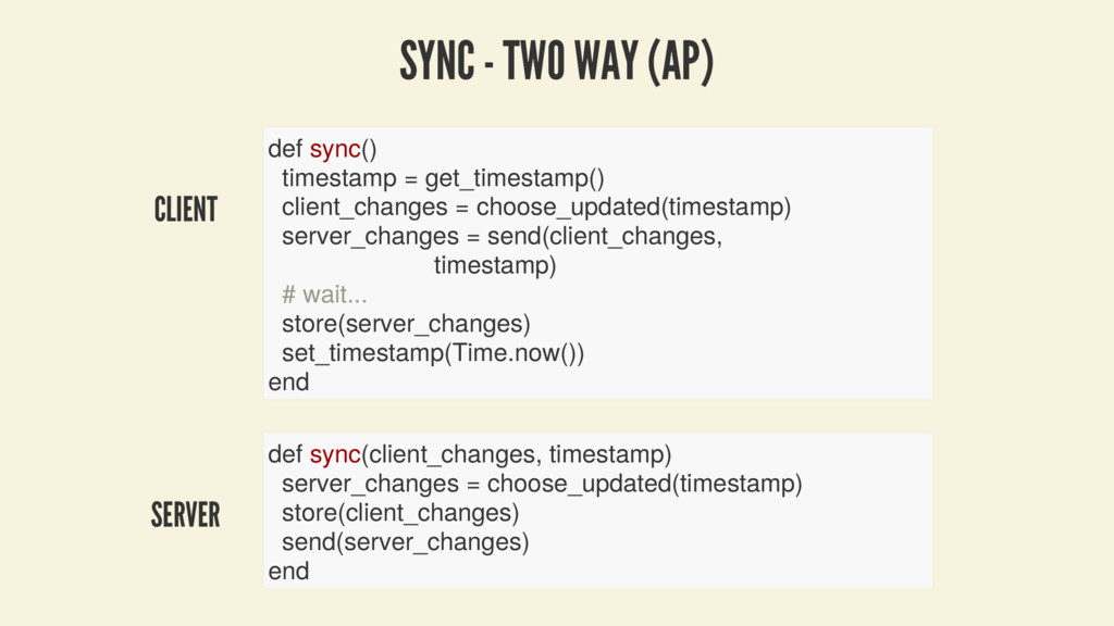 CLIENT SERVER SYNC - TWO WAY (AP) def sync() ti...