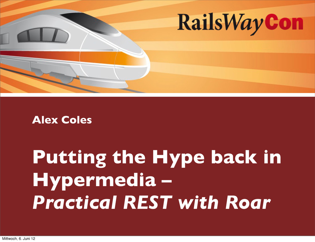 Alex Coles Putting the Hype back in Hypermedia ...