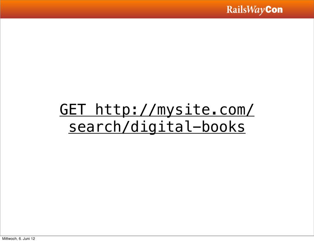 GET http://mysite.com/ search/digital-books Mit...