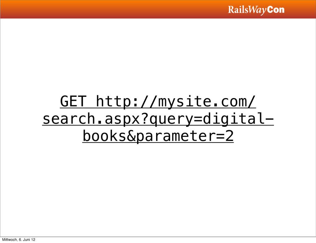 GET http://mysite.com/ search.aspx?query=digita...