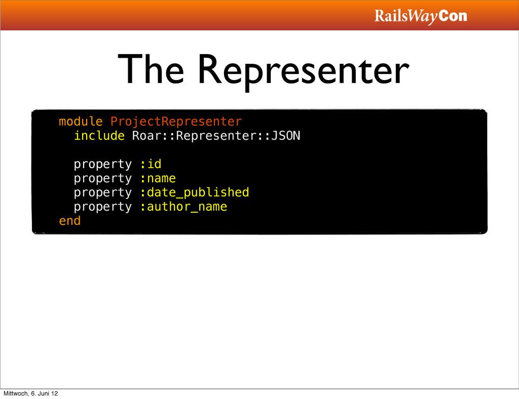 The Representer module ProjectRepresenter inclu...