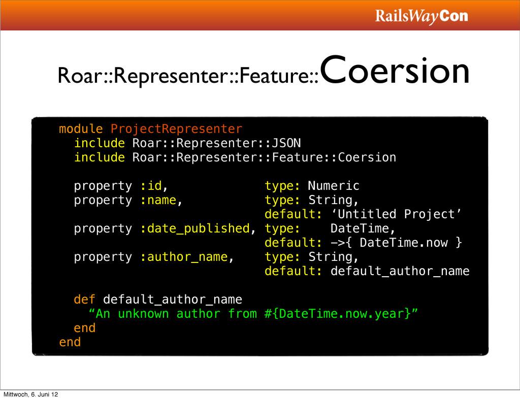 Roar::Representer::Feature:: Coersion module Pr...