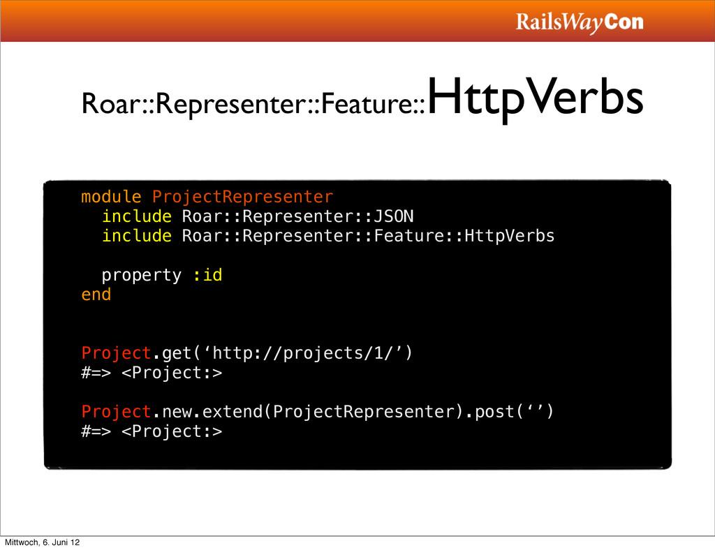 Roar::Representer::Feature:: HttpVerbs module P...