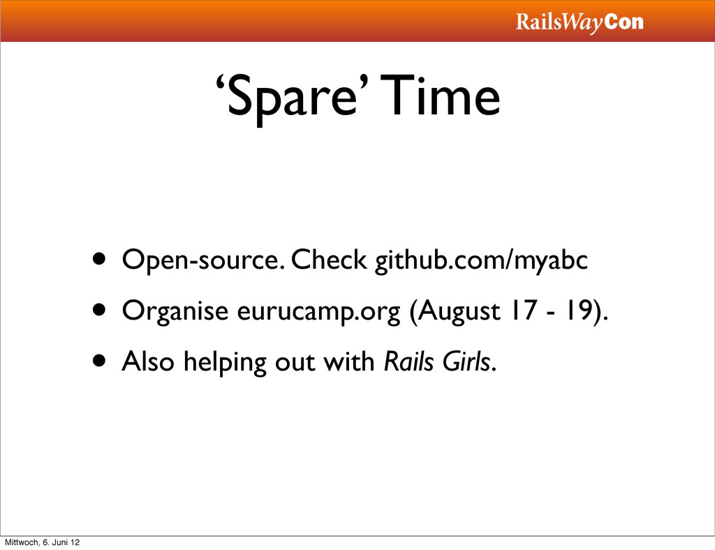 'Spare' Time • Open-source. Check github.com/my...