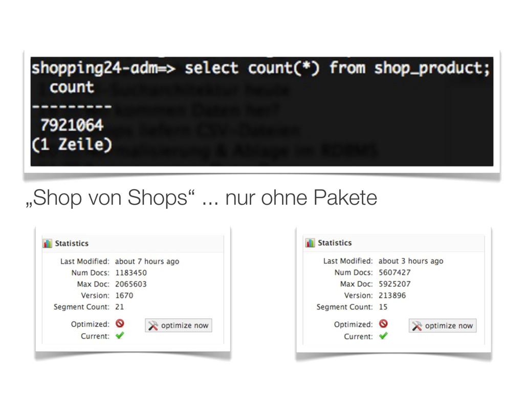 """""""Shop von Shops"""" ... nur ohne Pakete"""