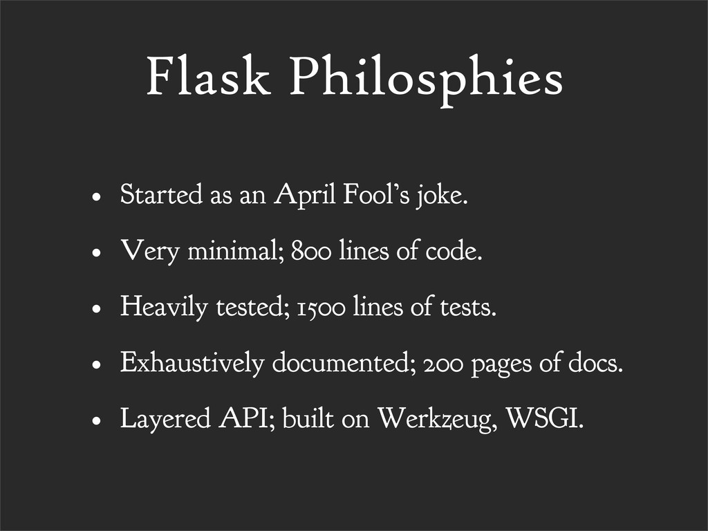 Flask Philosphies • Started as an April Fool's ...
