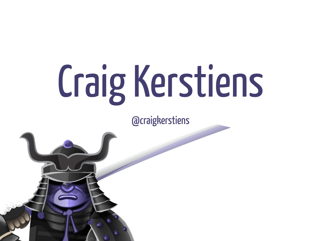 Craig Kerstiens @craigkerstiens