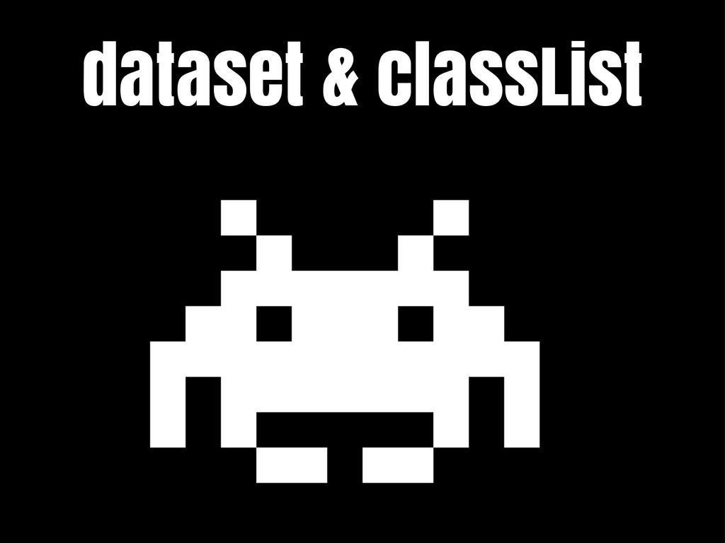 dataset & classList