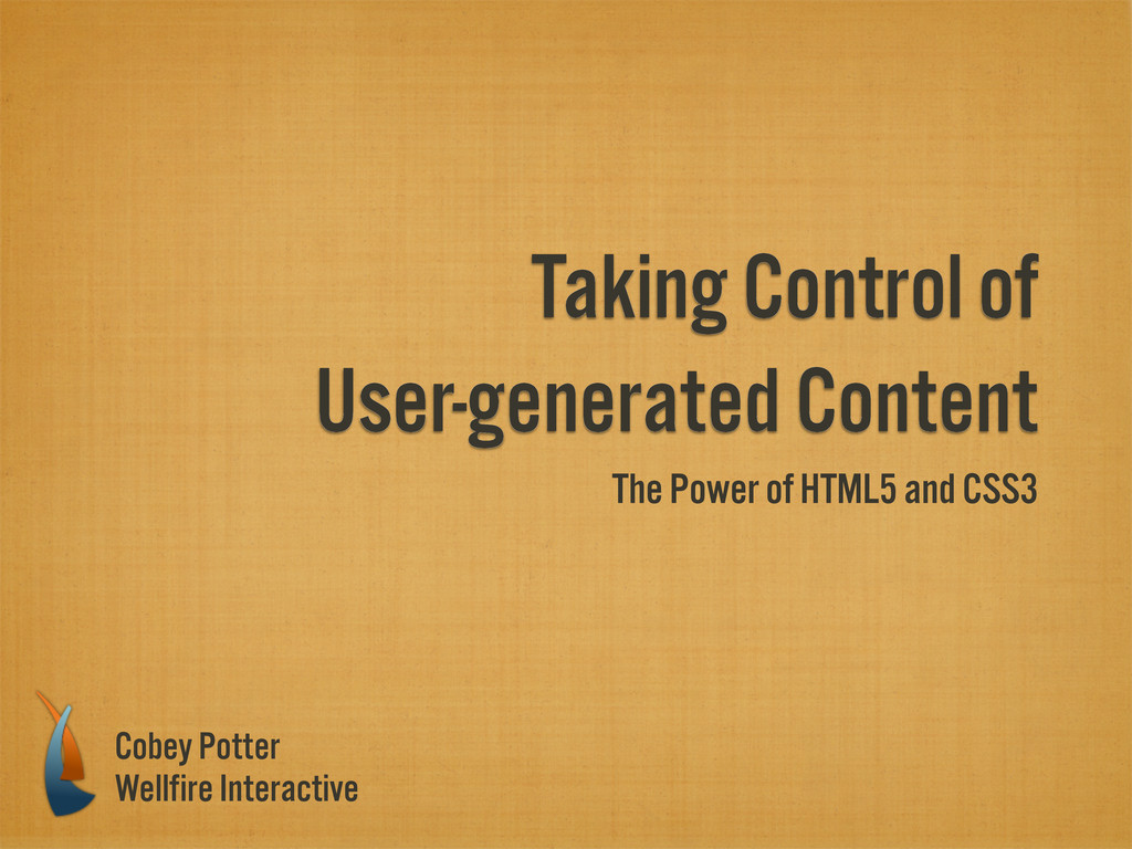 Taking Control of User-generated Content The Po...