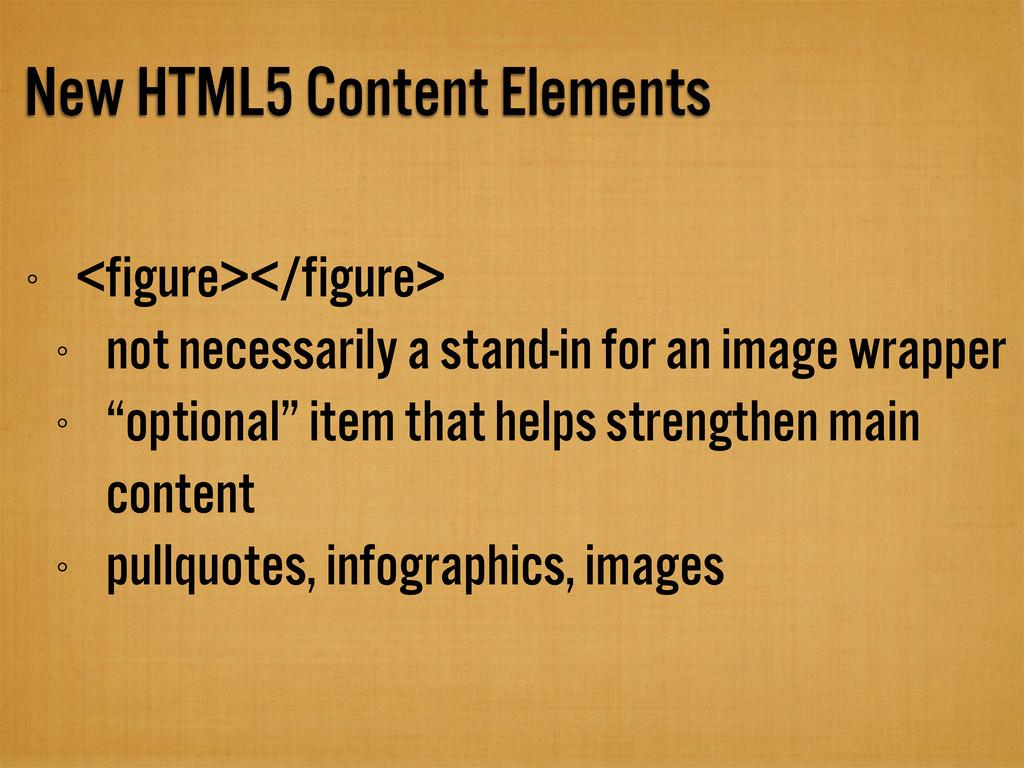 New HTML5 Content Elements <figure></figure> no...