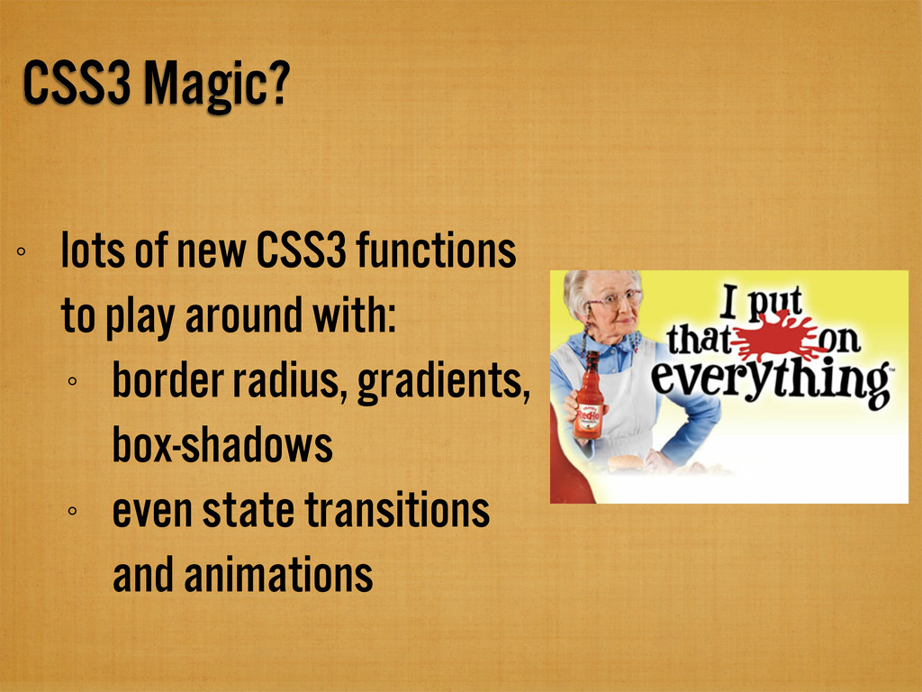 CSS3 Magic? lots of new CSS3 functions to play ...