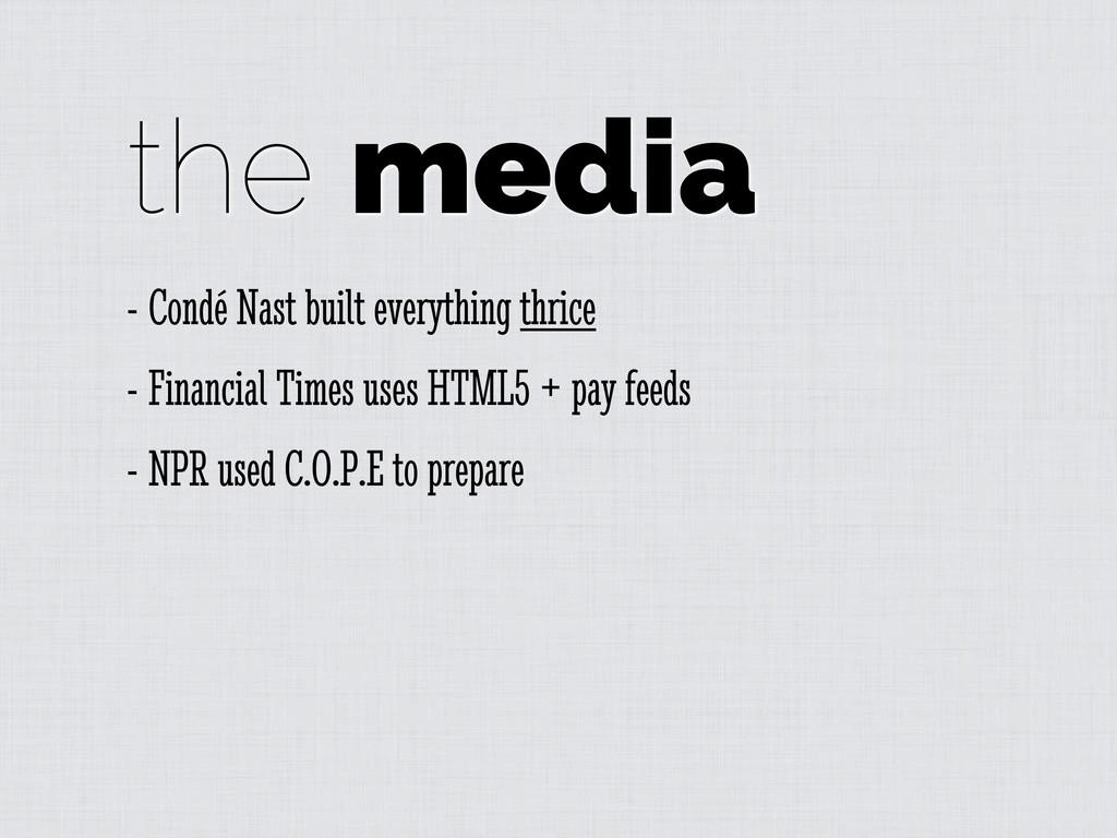 the media - Condé Nast built everything thrice ...
