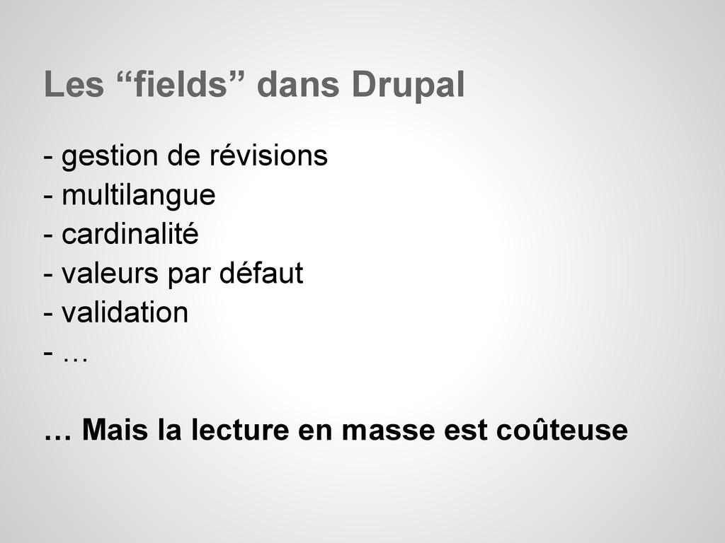 """Les """"fields"""" dans Drupal - gestion de révisions..."""