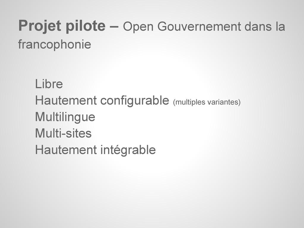 Libre Hautement configurable (multiples variant...