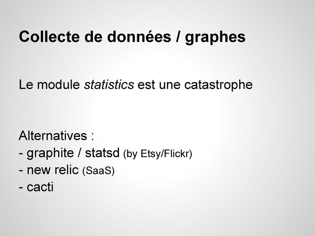 Collecte de données / graphes Le module statist...