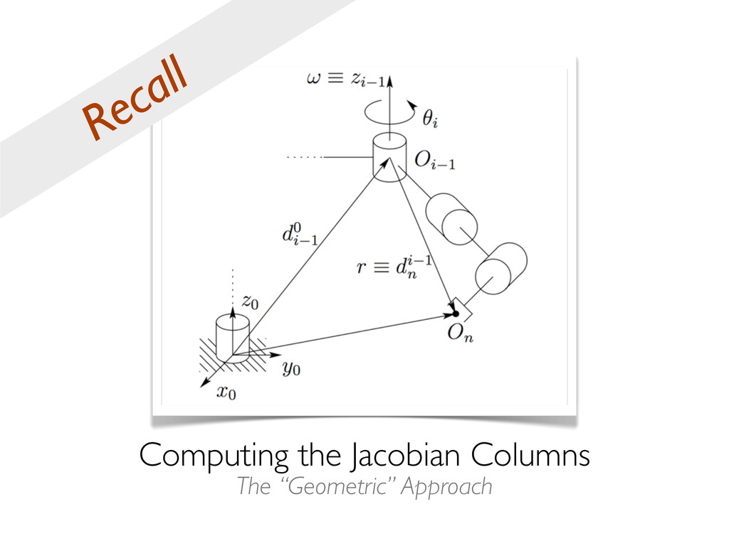 "Computing the Jacobian Columns The ""Geometric"" ..."