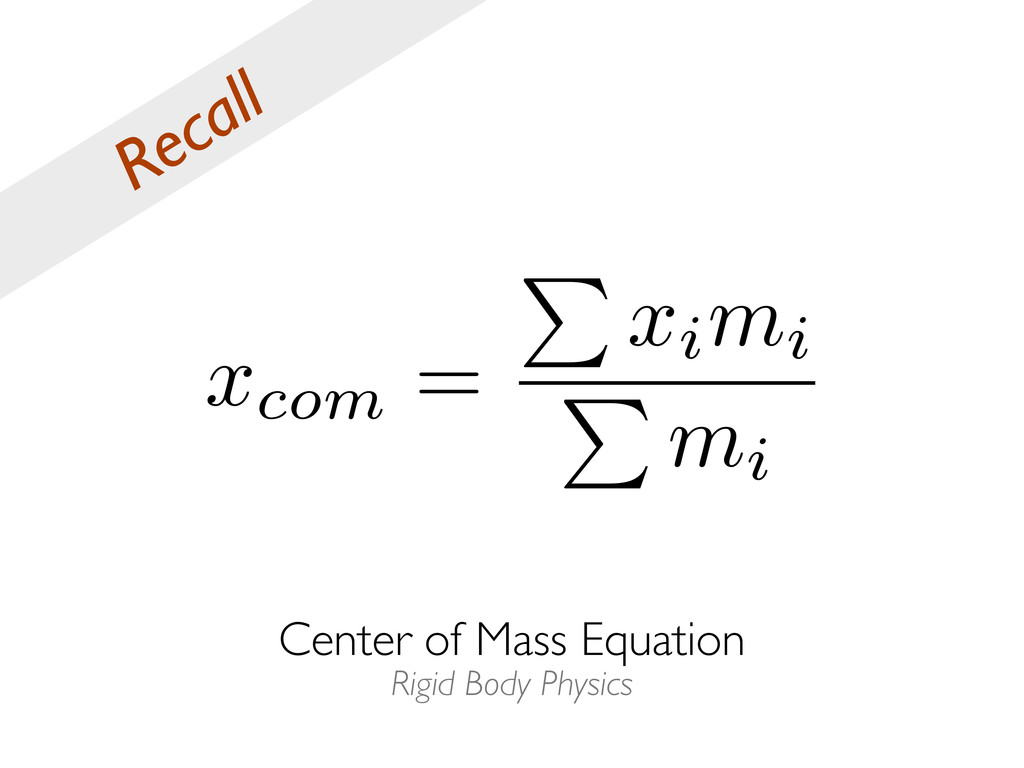 Center of Mass Equation Rigid Body Physics Reca...