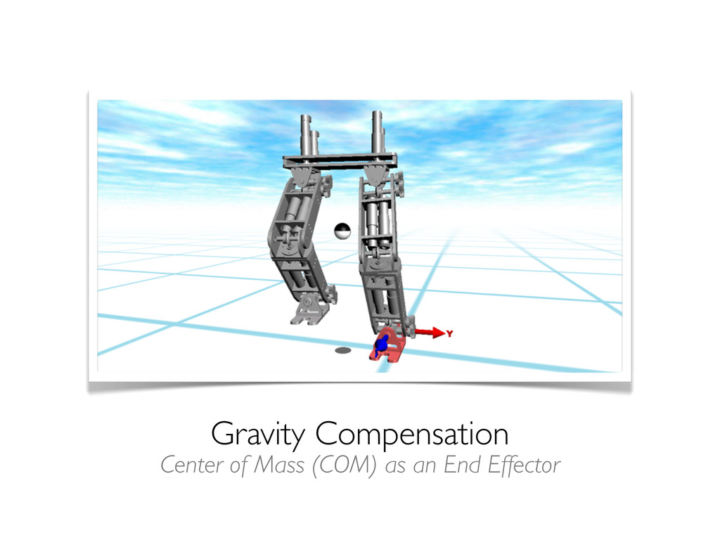 Gravity Compensation Center of Mass (COM) as an...