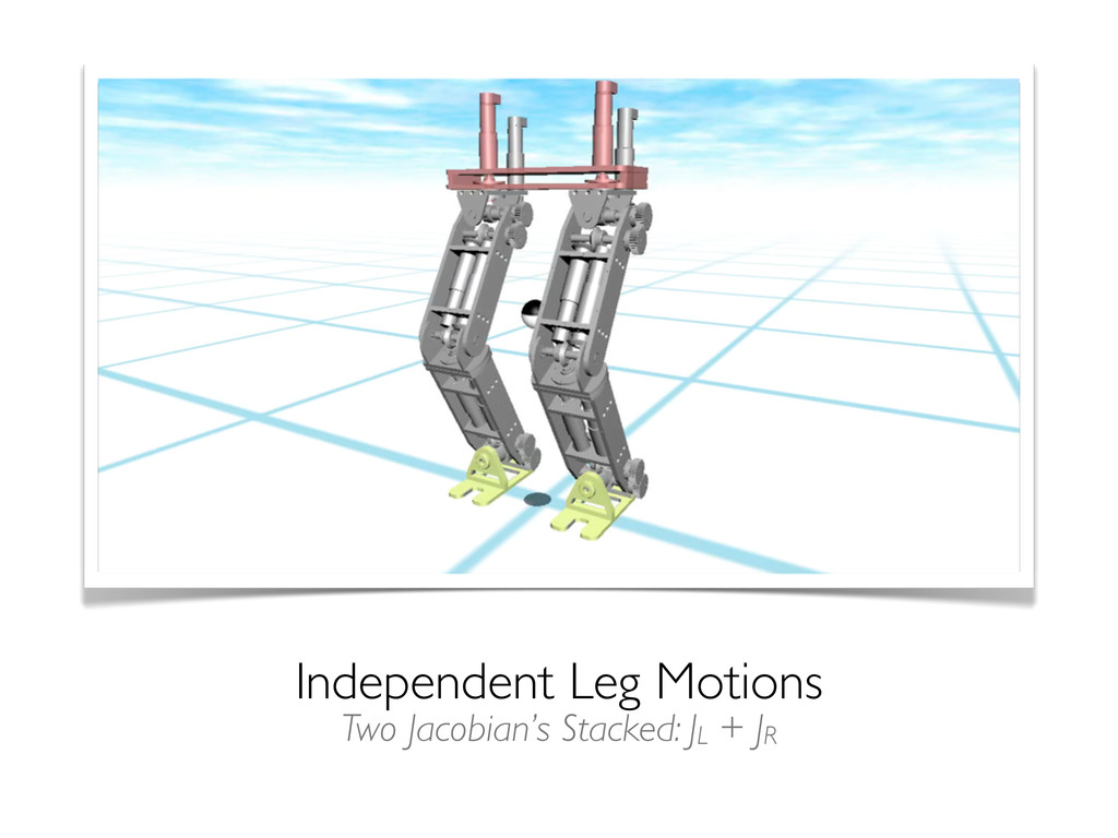 Independent Leg Motions Two Jacobian's Stacked:...