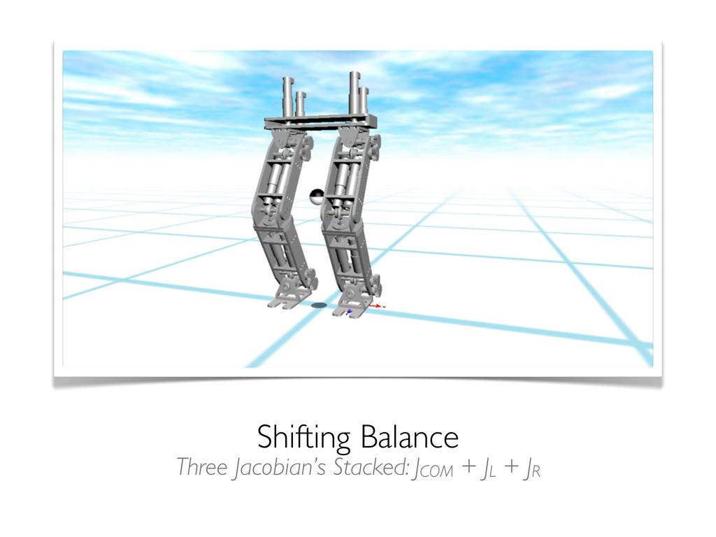 Shifting Balance Three Jacobian's Stacked: JCOM...