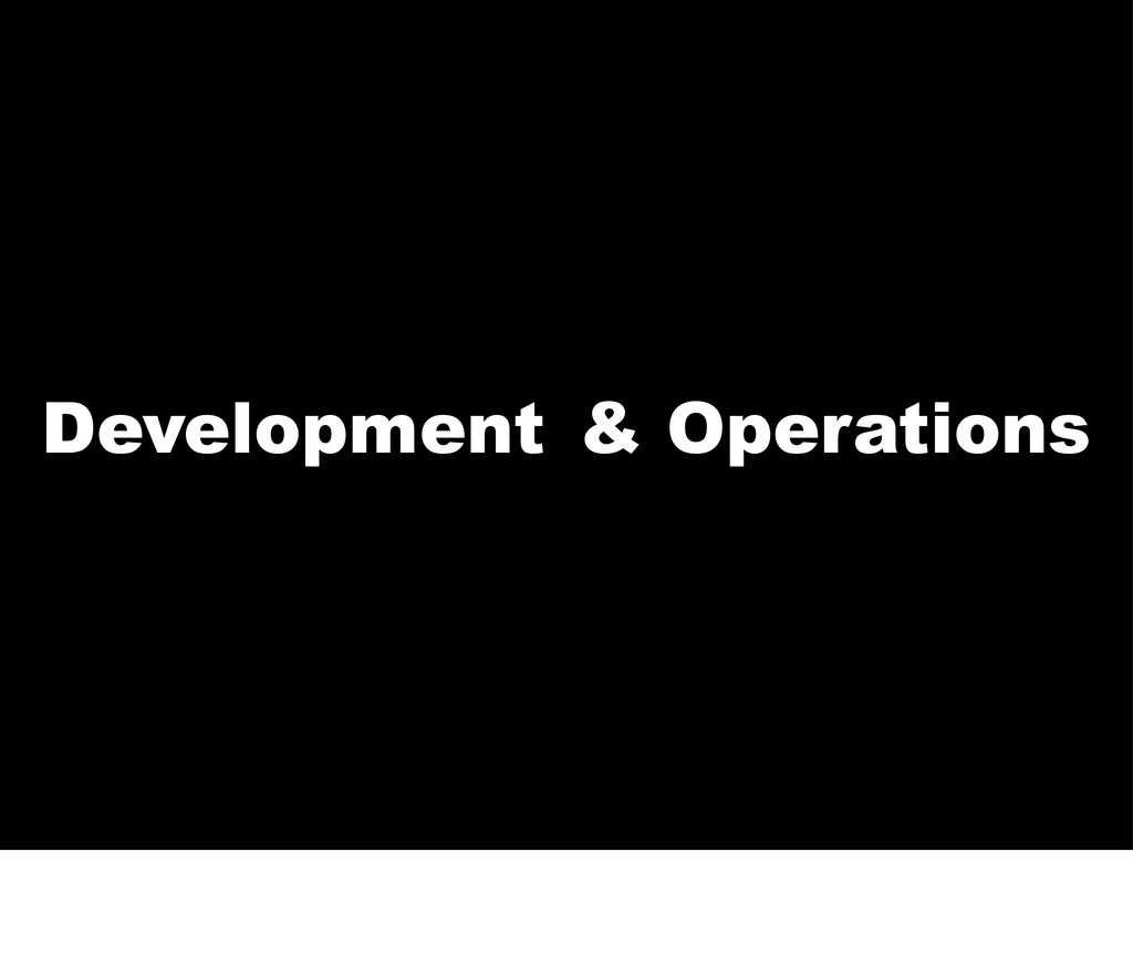Dev Development Operations &