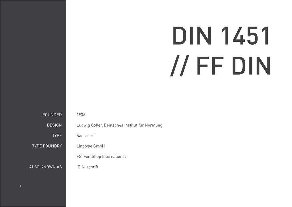 1 DIN 1451 // FF DIN FOUNDED DESIGN TYPE TYPE F...