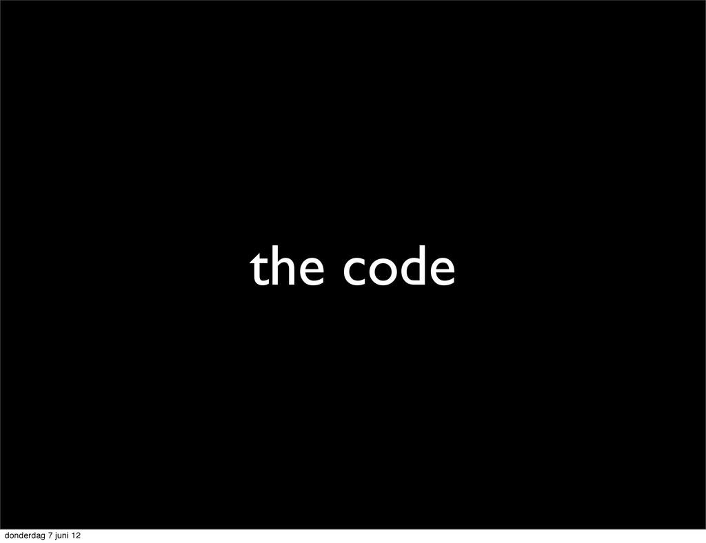 the code donderdag 7 juni 12
