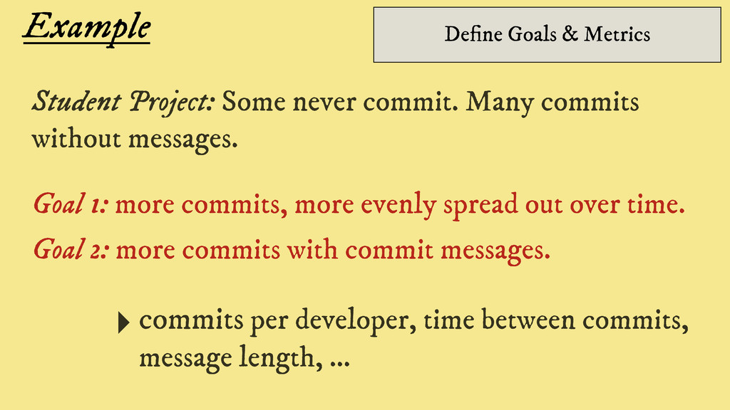 Example Student Project: Some never commit. Man...