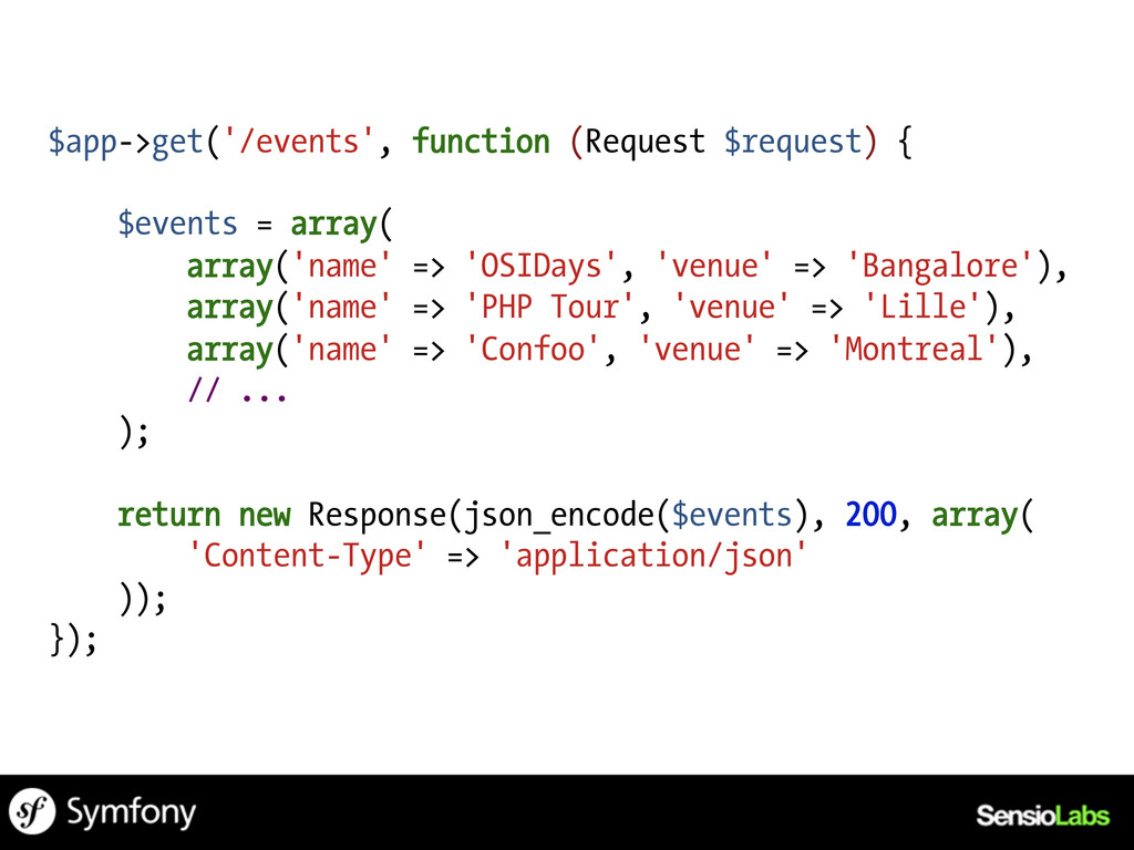 $app->get('/events', function (Request $request...