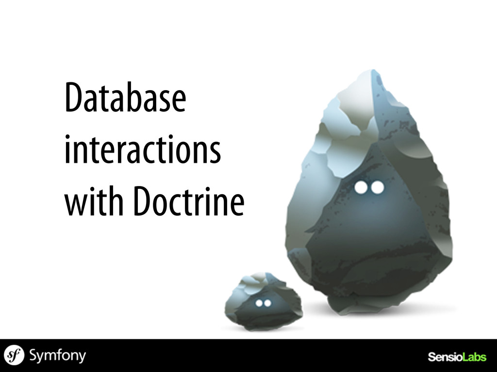 Database interactions with Doctrine