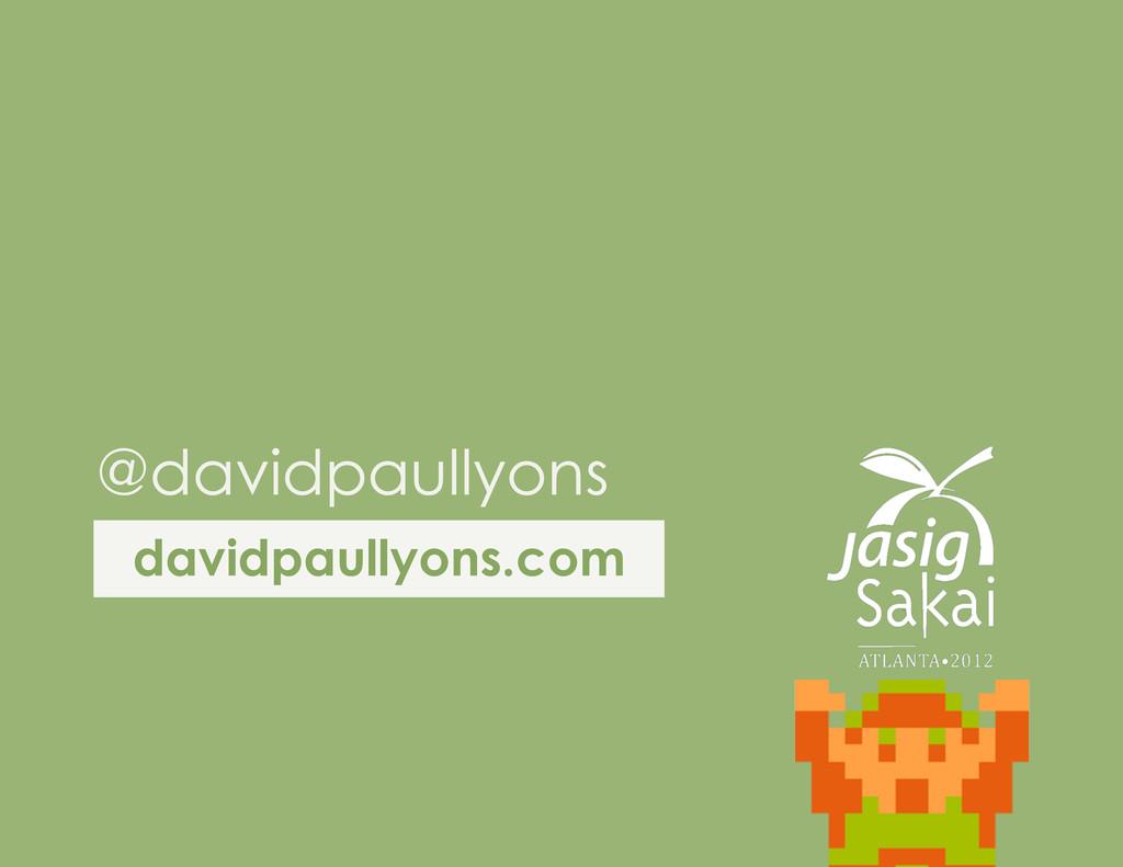 davidpaullyons.com @davidpaullyons