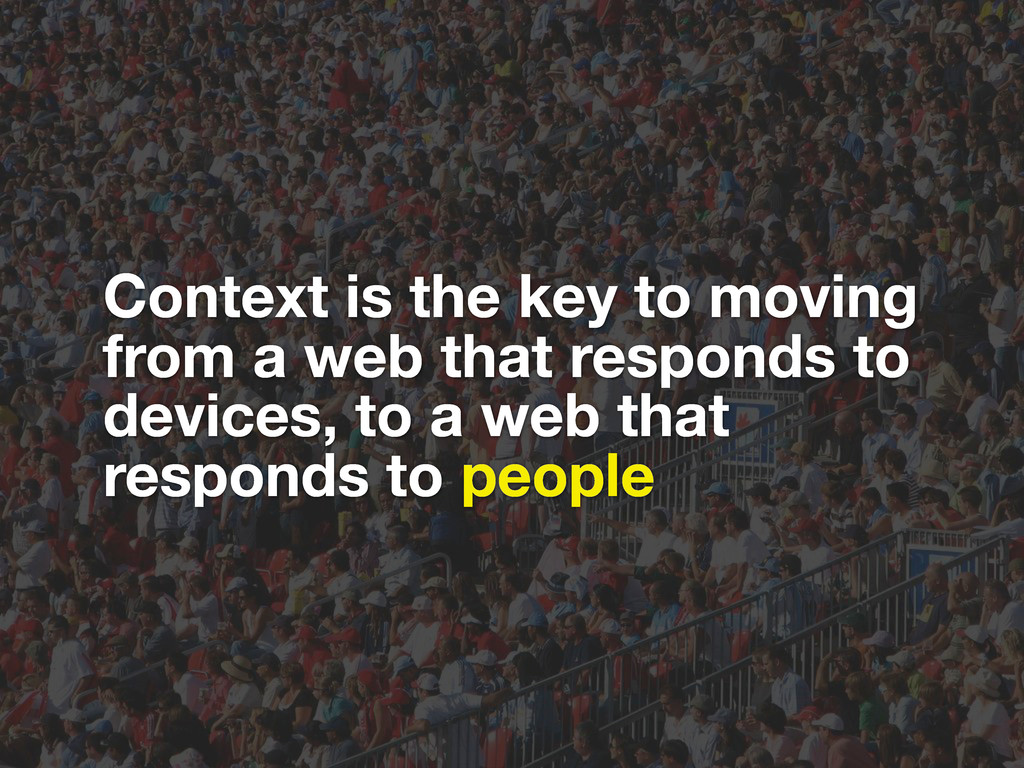 Context is the key to moving from a web that re...
