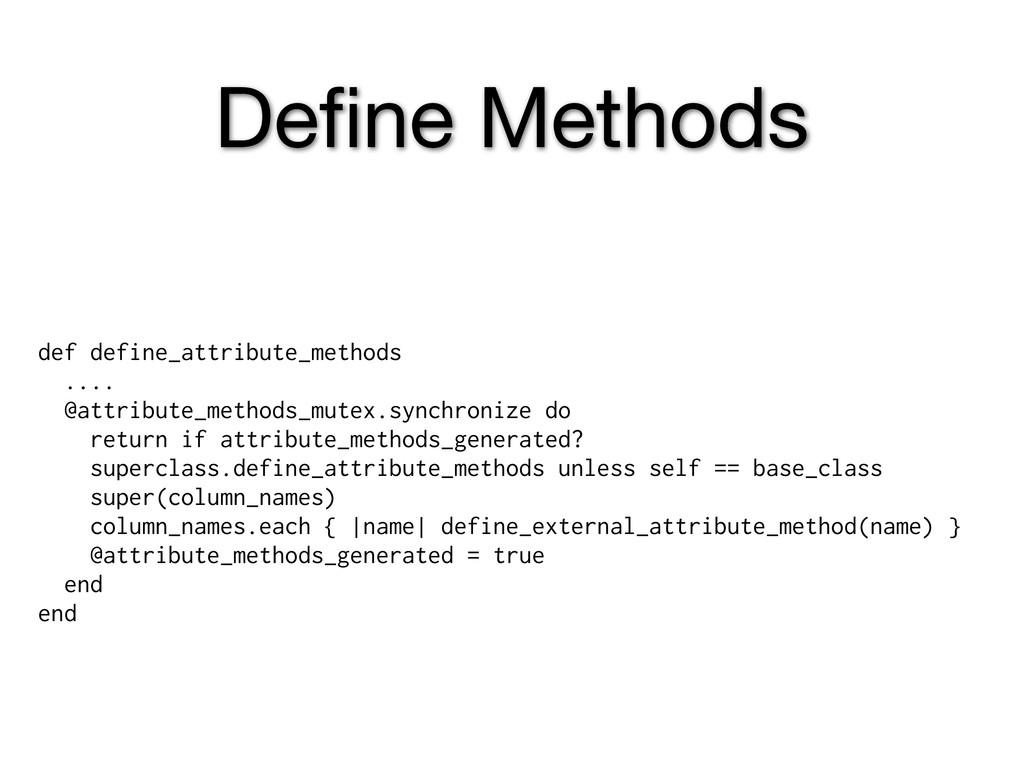 Define Methods def define_attribute_methods .......