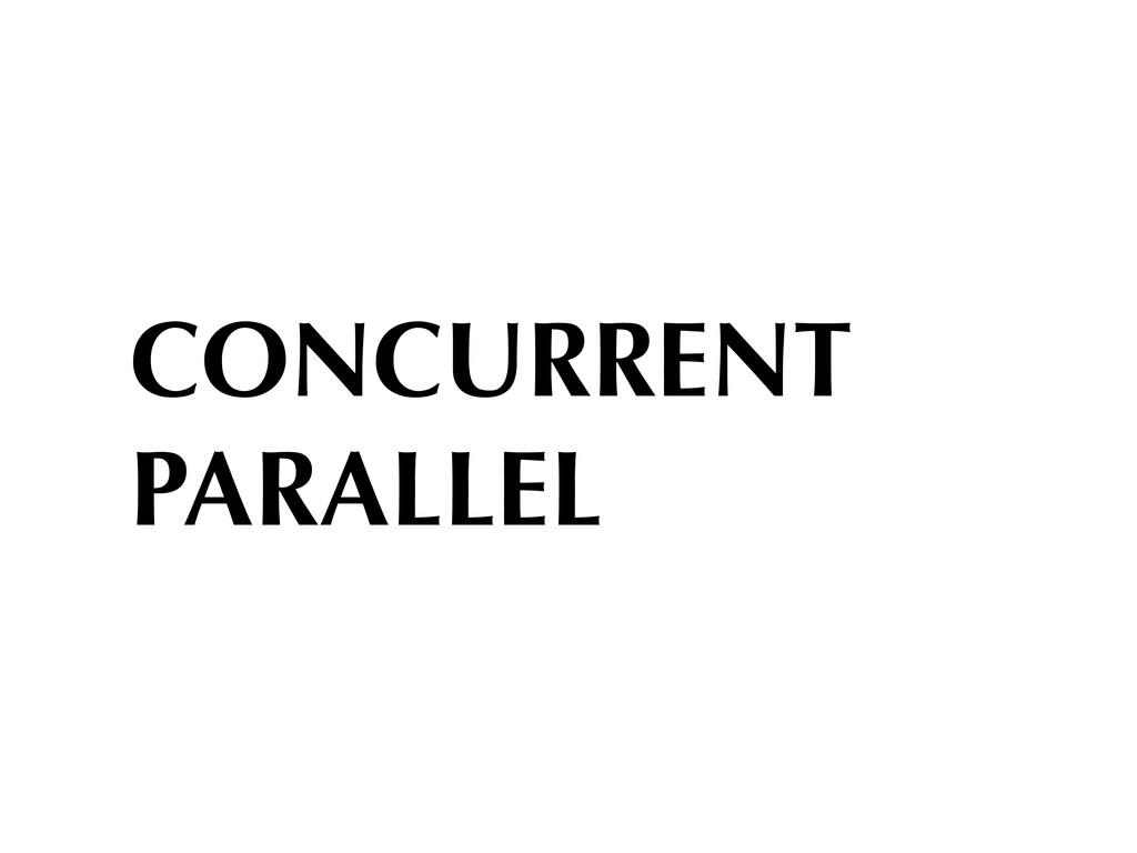 CONCURRENT PARALLEL
