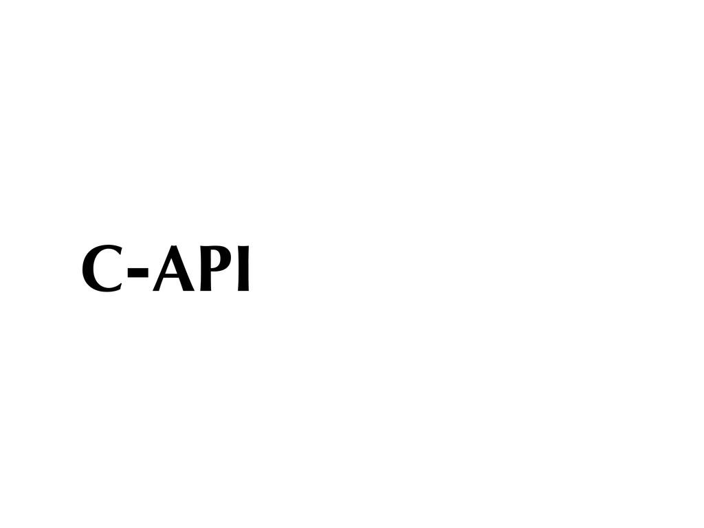 C-API