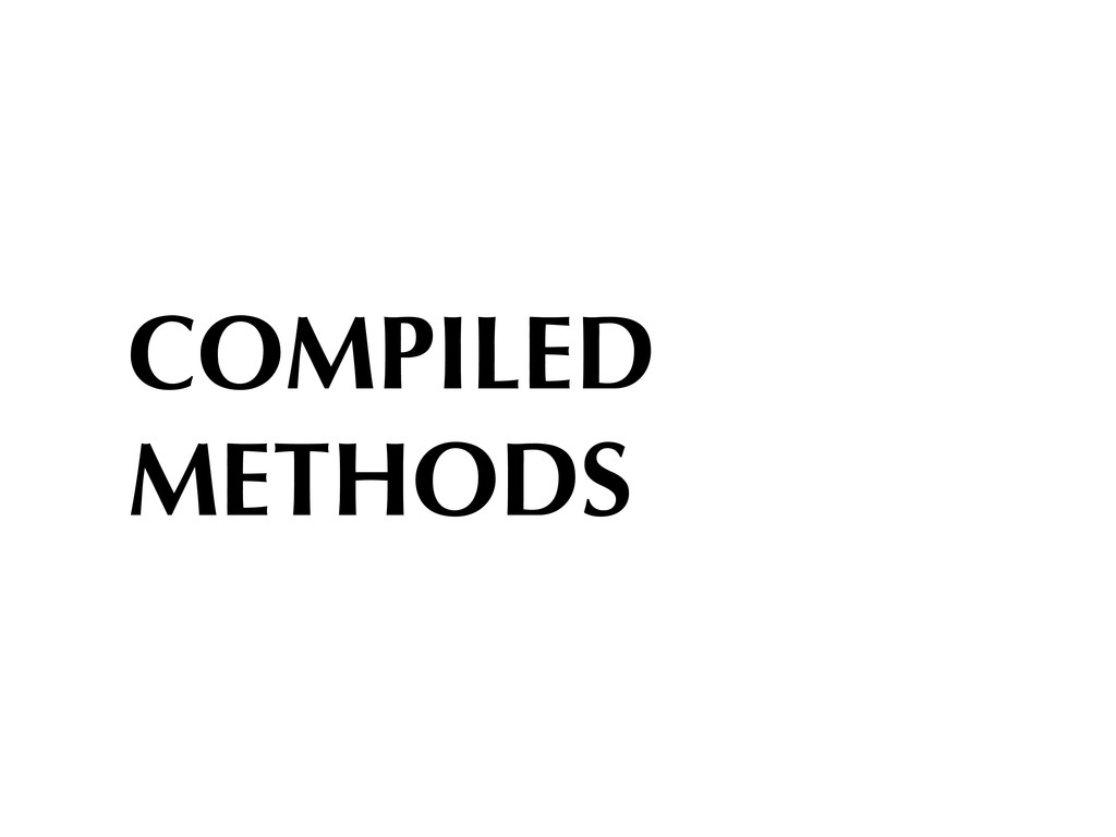 COMPILED METHODS