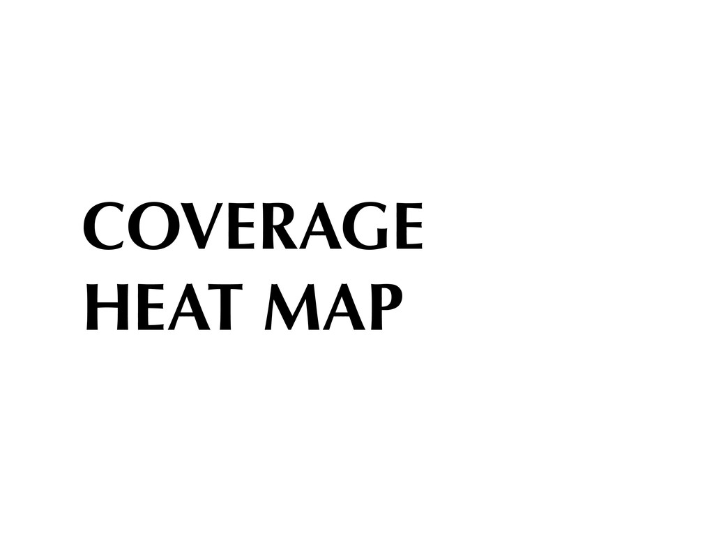 COVERAGE HEAT MAP