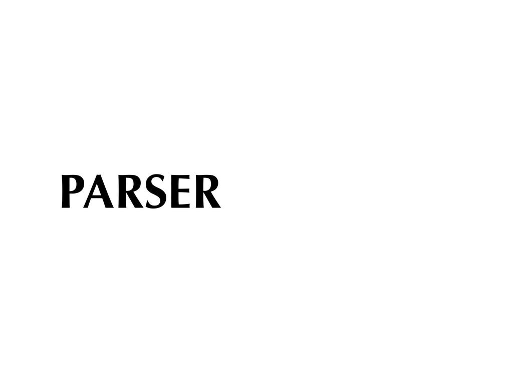 PARSER
