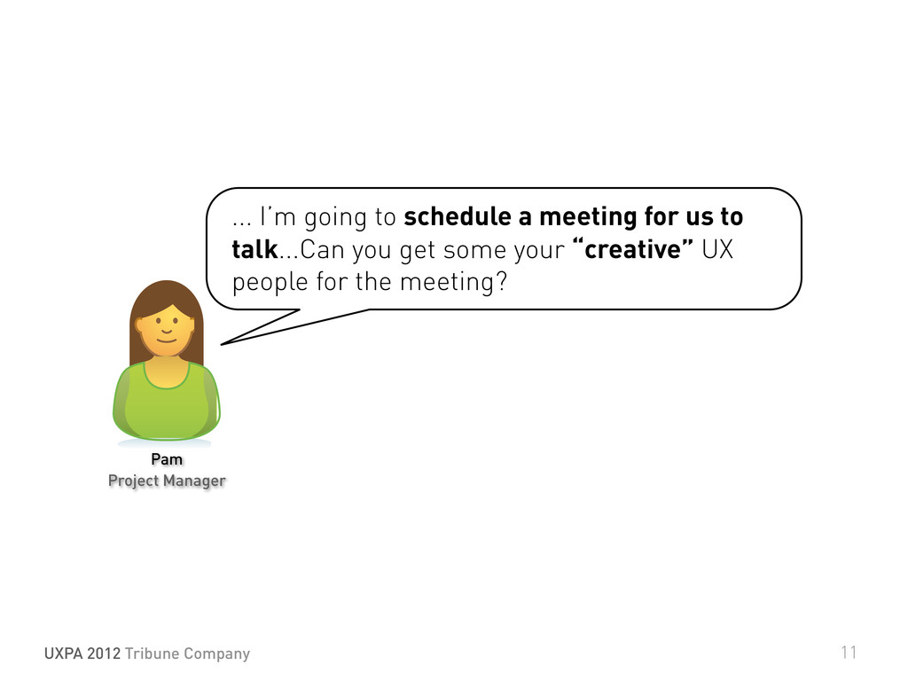 ... I'm going to schedule a meeting for us to t...