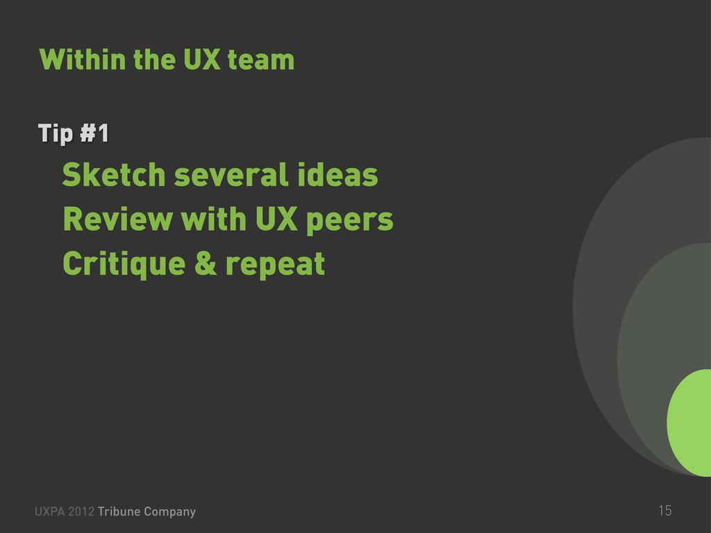 UXPA 2012 Tribune Company 15 Tip #1 Sketch seve...