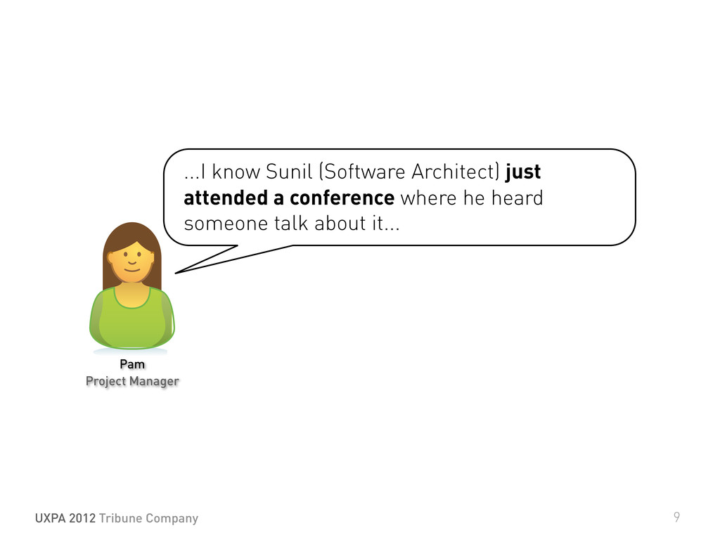...I know Sunil (Software Architect) just atten...