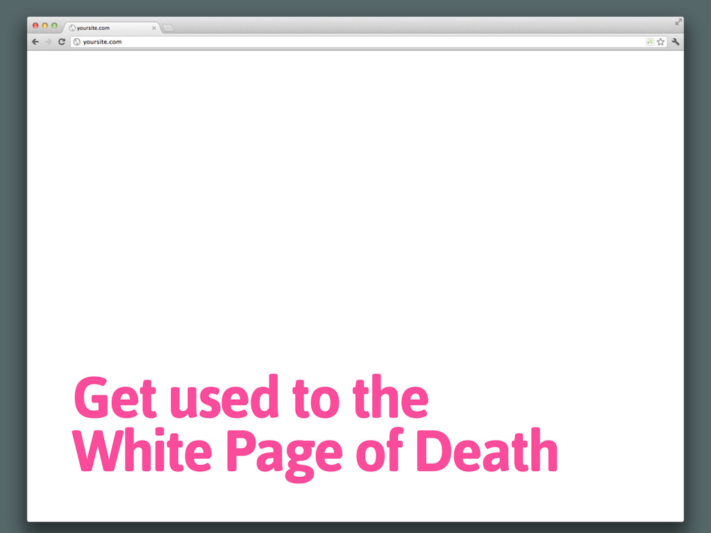 Get used to the White Page of Death