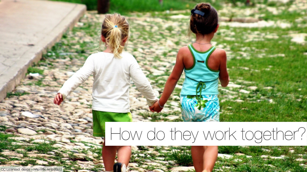 How do they work together? CC Licensed: devos –...
