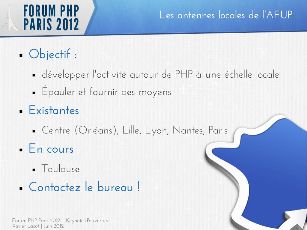 Forum PHP Paris 2012 – Keynote d'ouverture Xavi...