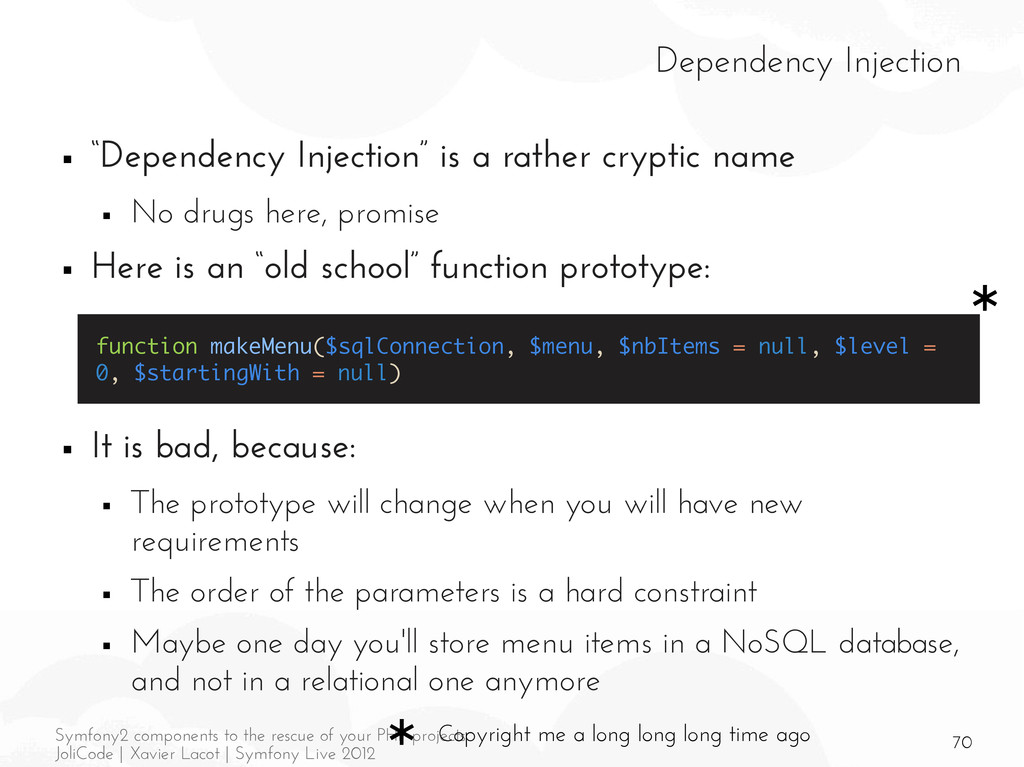70 Symfony2 components to the rescue of your PH...