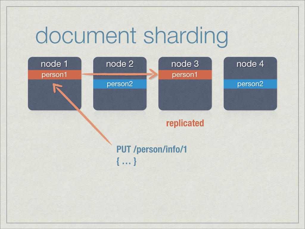 document sharding node 1 node 2 node 3 node 4 p...